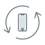 相互の矢印とスマートフォン